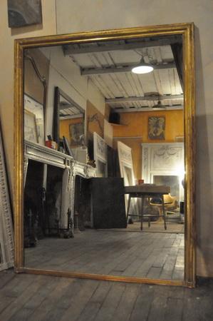 Miroir ancien mat riaux anciens glace mercure for Miroirs anciens